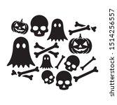 halloween icon flat vector...   Shutterstock .eps vector #1514256557