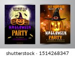 halloween party flyer with... | Shutterstock .eps vector #1514268347