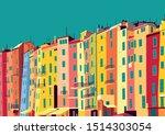 traditional itallian houses in... | Shutterstock .eps vector #1514303054