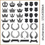wreaths and crowns | Shutterstock .eps vector #151430864