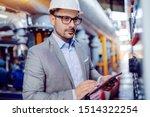 focused handsome caucasian...   Shutterstock . vector #1514322254