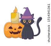 trick or treat   happy halloween | Shutterstock .eps vector #1514341361