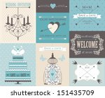 vector collection of vintage... | Shutterstock .eps vector #151435709