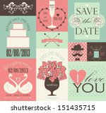 vector collection of wedding...