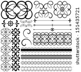 vector collection of ornamental ... | Shutterstock .eps vector #151435721