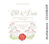invitation or wedding card with ... | Shutterstock .eps vector #151438109