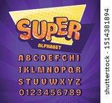 super alphabet funny font for... | Shutterstock .eps vector #1514381894