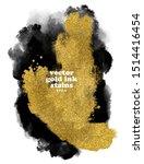 grungy gold brushstrokes...   Shutterstock .eps vector #1514416454