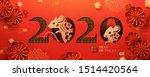 happy year of the rat banner in ... | Shutterstock .eps vector #1514420564