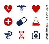 set of medical symbols | Shutterstock .eps vector #151442075