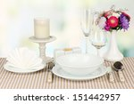 beautiful table setting for... | Shutterstock . vector #151442957