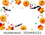 halloween composition with...   Shutterstock . vector #1514441111