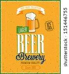 vintage beer brewery poster.... | Shutterstock .eps vector #151446755