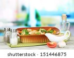 casserole with vegetables and... | Shutterstock . vector #151446875