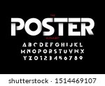 vector of stylized modern font... | Shutterstock .eps vector #1514469107