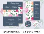 wedding invitation card with... | Shutterstock .eps vector #1514477954