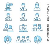 doctor flat line icons.... | Shutterstock .eps vector #1514492477