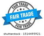 fair trade label. fair trade... | Shutterstock .eps vector #1514495921