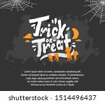 trick or treat text design for... | Shutterstock .eps vector #1514496437