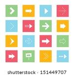 vector arrows icons set 1  | Shutterstock .eps vector #151449707