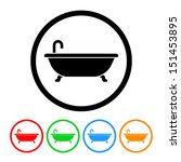 bathtub icon | Shutterstock .eps vector #151453895