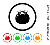 tomato icon vector with color... | Shutterstock .eps vector #151454105