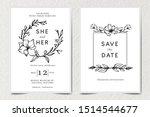 set traditional retro vintage... | Shutterstock .eps vector #1514544677