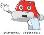 Waiter Santa Hat Character...