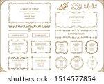 a vector design frame set | Shutterstock .eps vector #1514577854