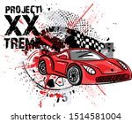 speed racer poster with red...   Shutterstock .eps vector #1514581004