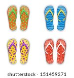 Set Of Multi Colored Flip Flop...