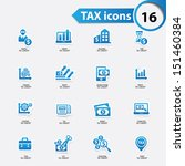 tax and finance icons blue... | Shutterstock .eps vector #151460384