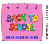back to school text on a... | Shutterstock .eps vector #151461401