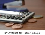 financial background with money ... | Shutterstock . vector #151463111