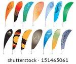 set of beach flags   Shutterstock .eps vector #151465061