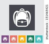 schoolbag. single flat icon.... | Shutterstock .eps vector #151465421