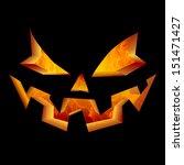 Scary Carved Jack O Lantern...