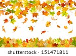 seamless pattern of falling... | Shutterstock . vector #151471811