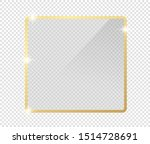 gold shiny glowing frame with... | Shutterstock .eps vector #1514728691