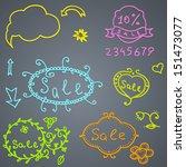hand draw sale element. raster... | Shutterstock . vector #151473077