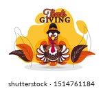 illustration of turkey wearing...   Shutterstock .eps vector #1514761184