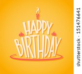 happy birthday postcard | Shutterstock .eps vector #151476641