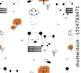 seamless pattern  with cute...   Shutterstock .eps vector #1514783471