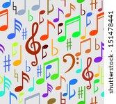 musical notes seamless pattern.    Shutterstock .eps vector #151478441