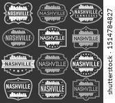 nashville tennessee skyline.... | Shutterstock .eps vector #1514784827