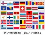 european national flags set....   Shutterstock .eps vector #1514798561