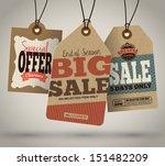 vintage style sale tags design