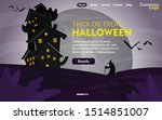 happy halloween with night... | Shutterstock .eps vector #1514851007