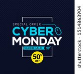 cyber monday sale banner... | Shutterstock .eps vector #1514863904