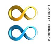 blue and yellow infinity icons... | Shutterstock . vector #151487045